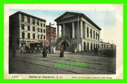 CHARLESTON, SC - MARKET ANIMATED - SPARKLES - PUB BY ILL. POST CARD CO - - Charleston