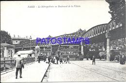 104755 FRANCE PARIS LA GARE STATION TRAIN METROPOLITAIN & TRAMWAY TRAM POSTAL POSTCARD - France