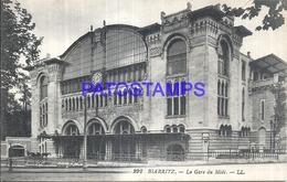 104756 FRANCE BIARRITZ LA GARE STATION TRAIN POSTAL POSTCARD - France