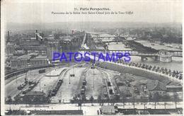 104757 FRANCE PARIS LA GARE STATION TRAIN VIEW AERIAL POSTAL POSTCARD - France