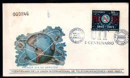 COLOMBIA- KOLUMBIEN - 1965.FDC/SPD. INTERNATIONAL TELECOMMUNICATION UNION - Colombie