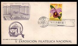 COLOMBIA- KOLUMBIEN - 1965.FDC/SPD. ORCHIDS / FLOWERS - Colombia