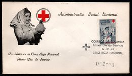 COLOMBIA- KOLUMBIEN - 1965.FDC/SPD. RED CROSS - NURSE AND PATIENT - Colombia