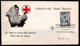 COLOMBIA- KOLUMBIEN - 1965.FDC/SPD. RED CROSS - NURSE AND PATIENT - Colombie
