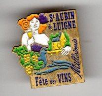 PIN'S SAINT AUBIN DE LUIGNE Fete Des Vins - Villes