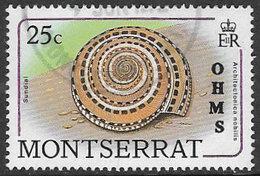 Montserrat SG O80 1989 Official 25c Good/fine Used [38/316934/1D] - Montserrat