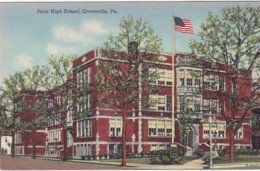 Pennsylvania Greenville Penn High School Curteich - Other
