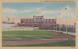 Pennsylvania Erie Academy High School & Stadium 1946 Curteich - Other