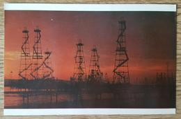BAKU - Azerbaijan (Soviet Union) - Offshore Oil-derricks - Petrol  Nv - Azerbaigian