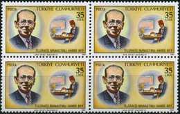 TURKEY 1983 (**) - Mi. 2630, Telegraphist Hamdi Bey From Manastir [Block Of Four] - 1921-... Republic