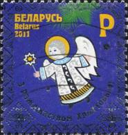 Belarus Poste Obl Yv: 754 Mi:879 Noël Ange (Lign.Ondulées) - Belarus