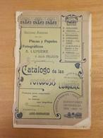 ArmV) Photography Photographie Catalogue A. LUMIERE Catalogo De Las Fotodosis Lumiere España  24,5x16cm 18pp Debroché - Werbung