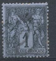 N°83c NOIR SUR COBALT 1ER CHOIX. - 1876-1898 Sage (Type II)