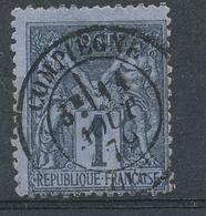 N°83c NOIR SUR COBALT 2EME CHOIX - 1876-1898 Sage (Type II)