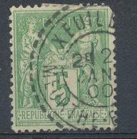 N°106  BEAU CACHET A DATE - 1876-1898 Sage (Type II)