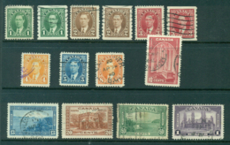 Canada 1937-8 Defins Inc Coils (50c Fault) 14) GU Lot29293 - Sin Clasificación