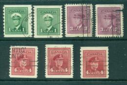Canada 1942 Coils,Booklet Asst (7)FU Lot29298 - Sin Clasificación