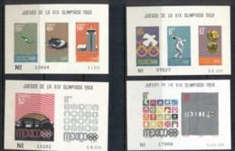 Mexico 1968 Summer Olympics Mexico City 4x MSMuh - Mexico