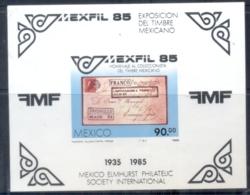 Mexico 1985 MEXPHIL '85 Stamp Ex MS MUH - Mexico