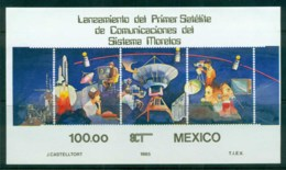Mexico 1985 Space Satellite, Moreles IMPERF MS MUH - Mexico
