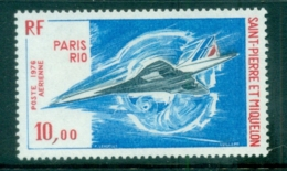 St Pierre & Miquelon 1976 Concorde MUH - Canada