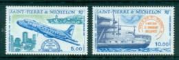 St Pierre & Miquelon 1987 Aircraft MUH - Canada