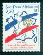 St Pierre & Miquelon 1987 Pres. Mitterand Visit MUH - Canada