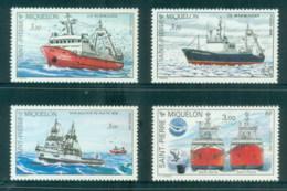 St Pierre & Miquelon 1987-90 Trawlers, Ships MUH - Canada