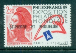 St Pierre & Miquelon 1988 Philex France MUH - Canada