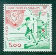 St Pierre & Miquelon 1991 Basque Sports MUH - Canada