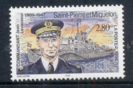 St Pierre Et Miquelon 1996 Commandant Jean Levasseur, Ship MUH - Canada