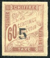 """Indochine Y&T 1 **  Mi# 2 MNH  (""""5"""" Casse) - Indochine (1889-1945)"""