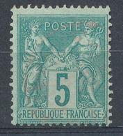 N°75 CACHET ROUGE - 1876-1898 Sage (Type II)