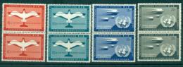 UN New York 1951 Air Mail Pairs MUH Lot40853 - New York -  VN Hauptquartier