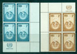 UN New York 1956 Honouring The WHO Imprint Blk 4 MUH Lot40888 - New York -  VN Hauptquartier