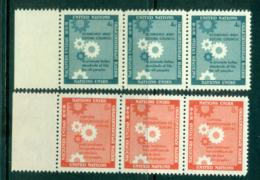 UN New York 1957 Honouring The Economic & Social Council Str 3 MUH Lot40899 - New York -  VN Hauptquartier
