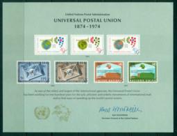 UN New York 1974 UPU Centenary Souvenir Card Lot56394 - New York -  VN Hauptquartier