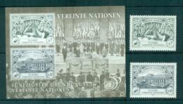 UN Vienna 1995 50th Anniv + MS MUH Lot65866 - Vienna – International Centre