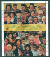 UN Vienna 1995 UN 50th Anniv. Sheetlet CTO Lot65958 - Vienna – International Centre