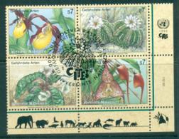 UN Vienna 1996 Endangered Species Blk 4 CTO Lot66095 - Vienna – International Centre