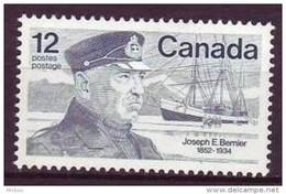 Canada, 1977, #738, Bateau, Voilier, Vaisseau, Capitaine, Boat, Ship - Polar Ships & Icebreakers