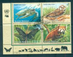 UN Vienna 1998 Endangered Species Blk 4CTO Lot66089 - Vienna – International Centre