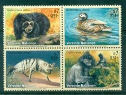 UN Vienna 2002 Endangered Species Blk4 MUH - Wien - Internationales Zentrum