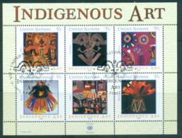 UN Vienna 2003 Indigenous Art MS CTO Lot66010 - Wien - Internationales Zentrum