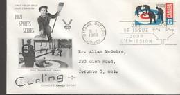 1969  Curling    Rose  Craft    Cachet   Sc 490 - 1961-1970