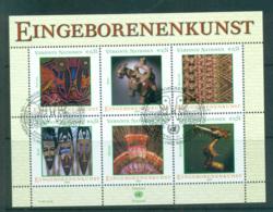 UN Vienna 2003 Indigenous Art MS CTO Lot66081 - Wien - Internationales Zentrum