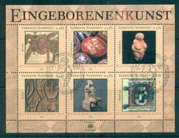 UN Vienna 2004 Indigenous Art MS CTO Lot66086 - Wien - Internationales Zentrum
