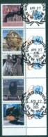 UN Vienna 2005 Sculptures + Labels 60th Anniv. CTO Lot66005 - Wien - Internationales Zentrum
