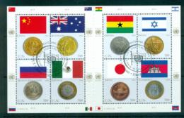 UN Vienna 2006 Flags & Coins MS CTO Lot66007 - Wien - Internationales Zentrum