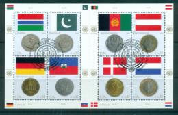 UN Vienna 2006 Flags & Coins MS CTO Lot66076 - Wien - Internationales Zentrum
